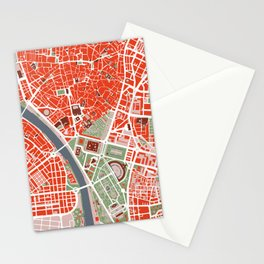 Seville city map classic Stationery Cards