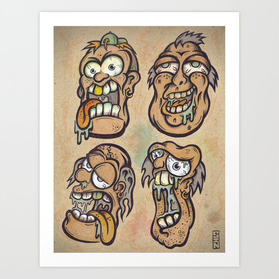 FOURHEADS ARE BETTER THAN ONE Art Print
