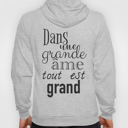 French success quote print Hoody