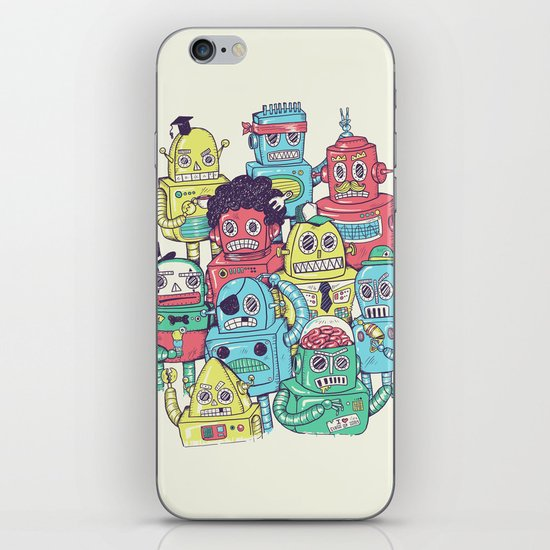 Robot's can't Smile iPhone & iPod Skin