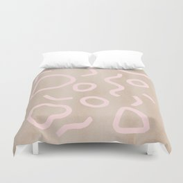 Pink Confetti Duvet Cover