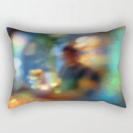 Through the Bottom of a Glass Rectangular Pillow