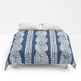 Cable Navy Comforters