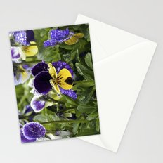 Violets on a rainy morning Stationery Cards