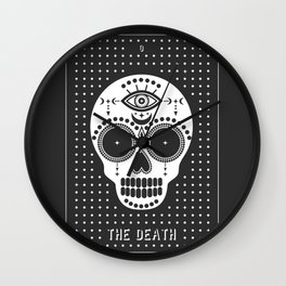Minimal Tarot Deck The Death Wall Clock