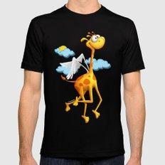 Fly Giraffe fly Black MEDIUM Mens Fitted Tee