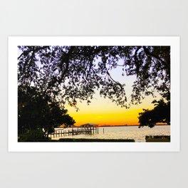 Summer Sunset Over the Bay Art Print