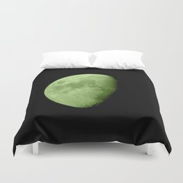 4K Dark Side of the Moon Lime Green Duvet Cover