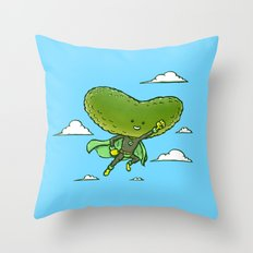 The Super Pickle Throw Pillow