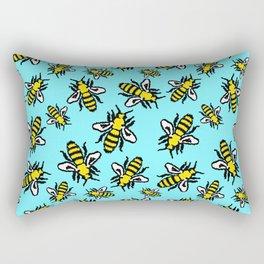 Honey Bee Swarm Rectangular Pillow