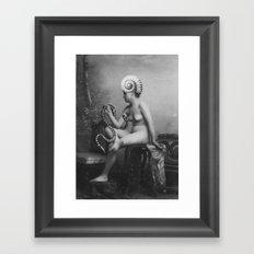 Shell Girl Framed Art Print