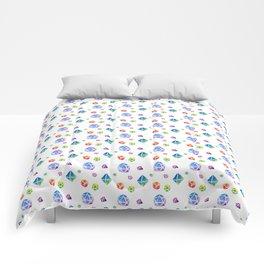 Watercolor Dice Comforters