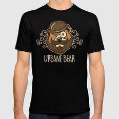 Urbane Bear MEDIUM Mens Fitted Tee Black