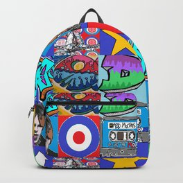 mods mini Pop Art multi designs by LowEndGraphics Backpack