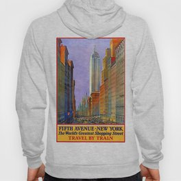 Fifth Avenue, New York - Vintage Poster Hoody