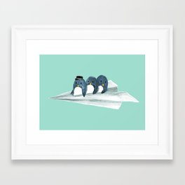 Let's travel the world Framed Art Print