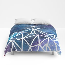 Watercolor galaxy Night Court - ACOTAR inspired Comforters