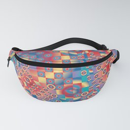 retro psychedelic Fanny Pack