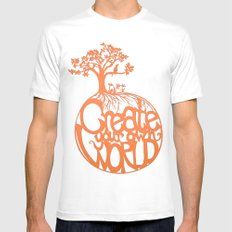 Create Your Own World Mens Fitted Tee White MEDIUM