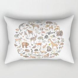 100 animals Rectangular Pillow