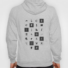 Alphabet Print Hoody