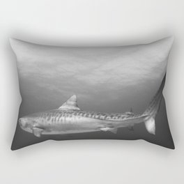 Tiger Shark, Black & White Rectangular Pillow