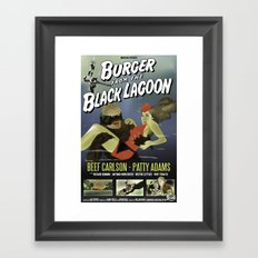 Burger From the Black Lagoon Framed Art Print