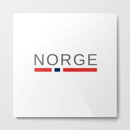 Norway Norge Metal Print