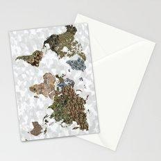 CAMO WORLD ATLAS MAP (white) Stationery Cards