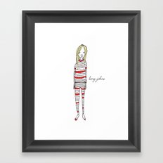 Long Johns Framed Art Print