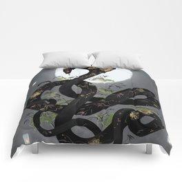 Night bloom Comforters