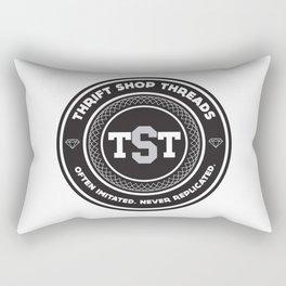 Thrift Shop Threads Button_College Rectangular Pillow