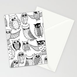 Funny owls Stationery Cards
