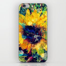 Sunflower Batik iPhone Skin