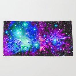 Fox Fur Nebula Galaxy Pink Purple Blue Beach Towel