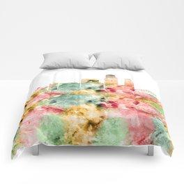 Corpus Christi Skyline Texas Comforters