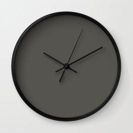 Sleepy Wolf ~ Taupe Sand Wall Clock