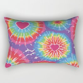 Love Tye Dye Rectangular Pillow