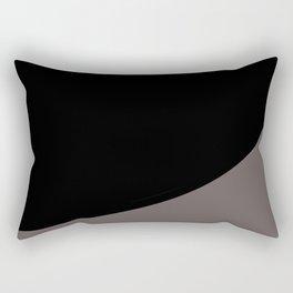 Black with Rising Gray Rectangular Pillow