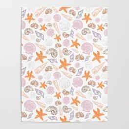 Seashell Print Poster