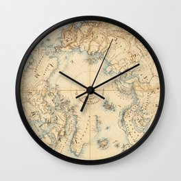 Map of the Arctic and Adjacent Regions (1855) Wall Clock