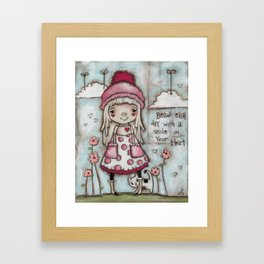 Happy Heart - Motivational Art for Girls Framed Art Print