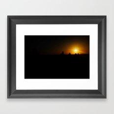 Simply lit Framed Art Print