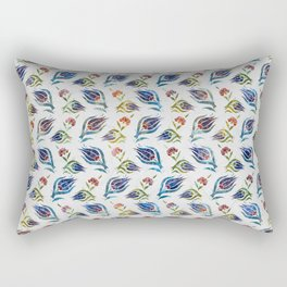 Turkish tulip - Ottoman tile pattern 1 Rectangular Pillow
