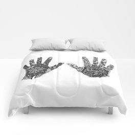 Hands of Contrast Comforters