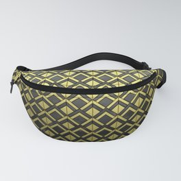 Cascading Squares Brass and Black - Art Deco Pattern Fanny Pack