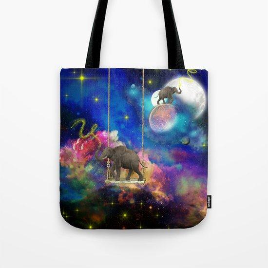 Space elephants Tote Bag