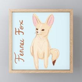 Fennec Fox Sketch Framed Mini Art Print