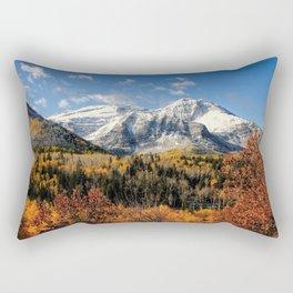 Winter Mountain In Autumn Utah Rectangular Pillow