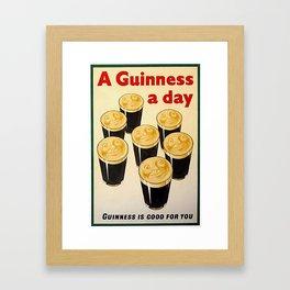 Vintage Guinness Advert Art Framed Art Print